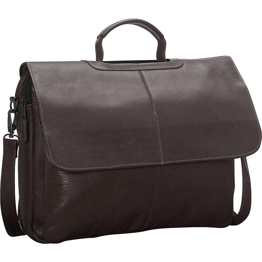 Latico Leathers Liberty Laptop Brief Café - Latico Leathers Non-Wheeled Business Cases - Work Bags & Briefcases, Non-Wheeled Business Cases