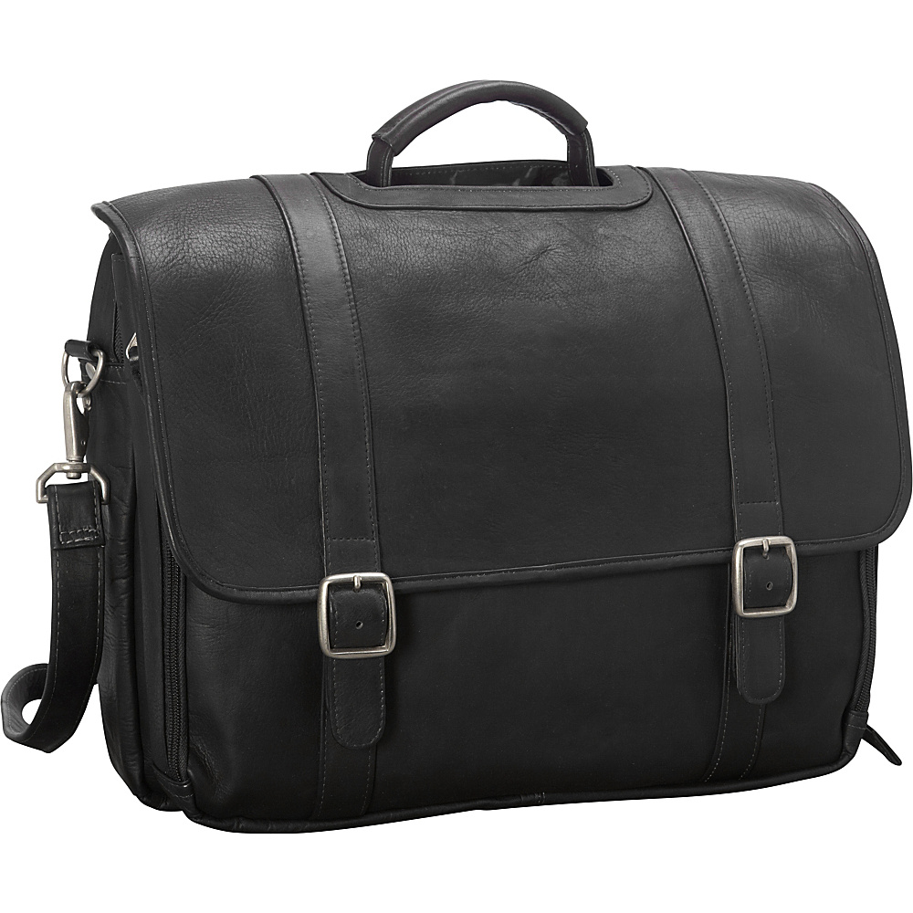Latico Leathers Grammercy Park Laptop Brief - LG Black - Latico Leathers Non-Wheeled Business Cases - Work Bags & Briefcases, Non-Wheeled Business Cases