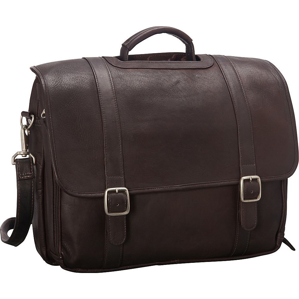 Latico Leathers Grammercy Park Laptop Brief - LG Café - Latico Leathers Non-Wheeled Business Cases - Work Bags & Briefcases, Non-Wheeled Business Cases