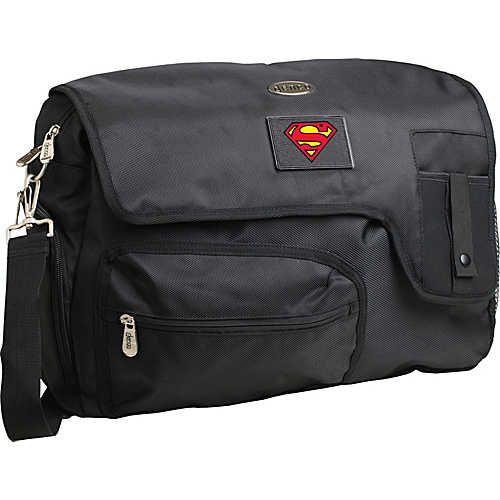 "Superman 15"" Black Laptop Travel Messenger Bag"