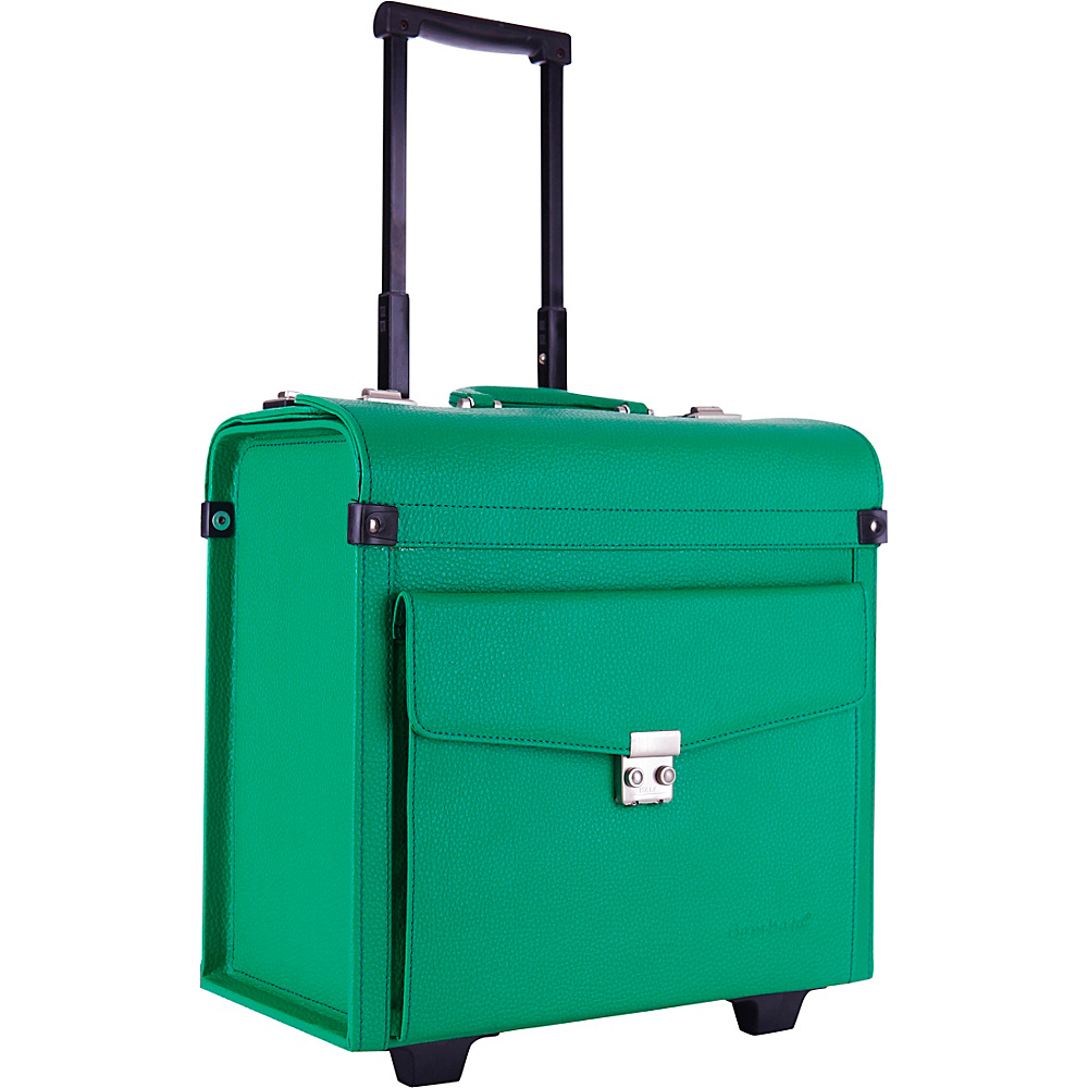 Bombata Trolley Aviatore Emerald Green Bombata Wheeled Business Cases