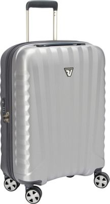 Roncato UNO ZSL Premium 22 inch Int'l Carry-On Spinner Silver - Roncato Hardside Carry-On