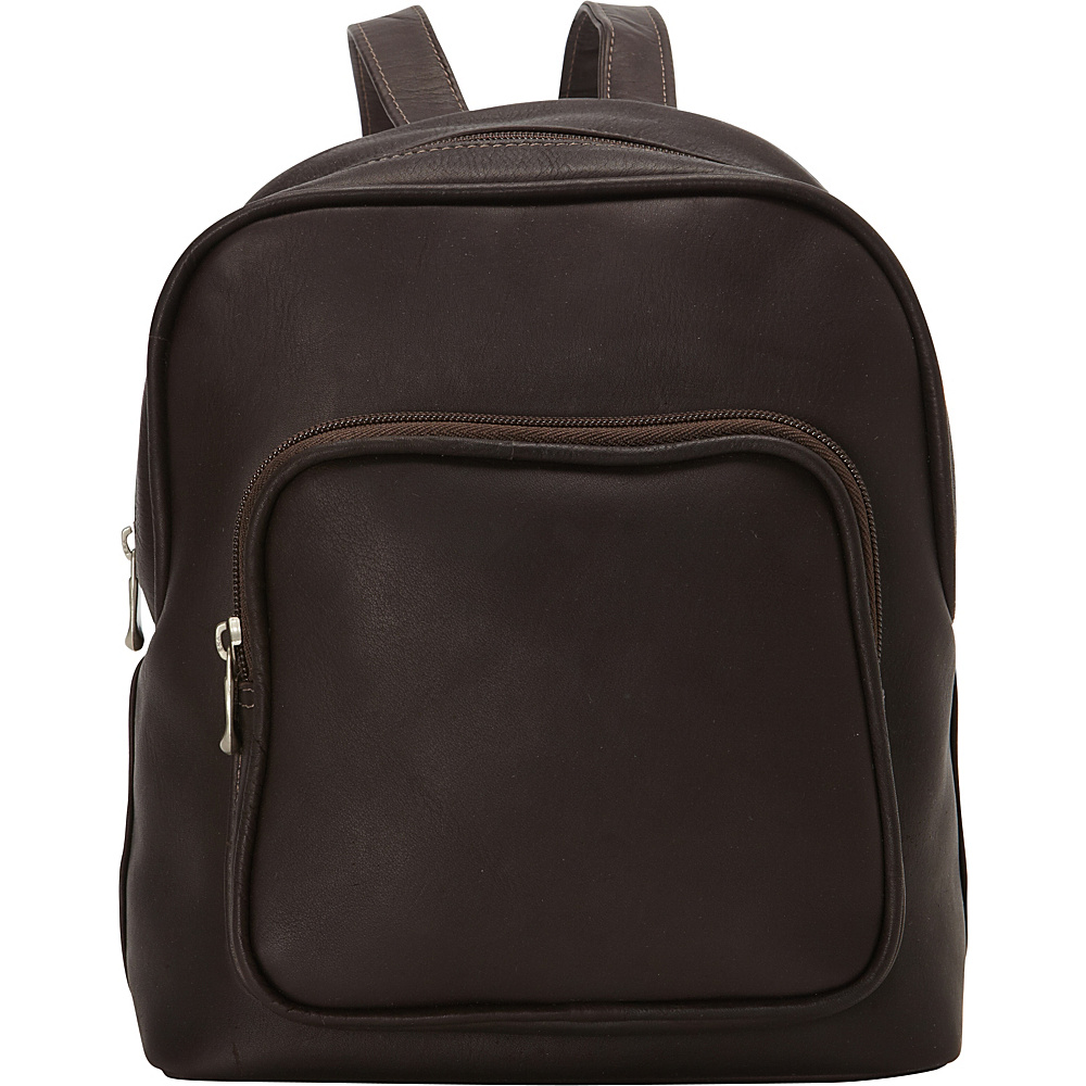 Le Donne Leather Zip Around Backpack Cafe - Le Donne Leather Leather Handbags - Handbags, Leather Handbags