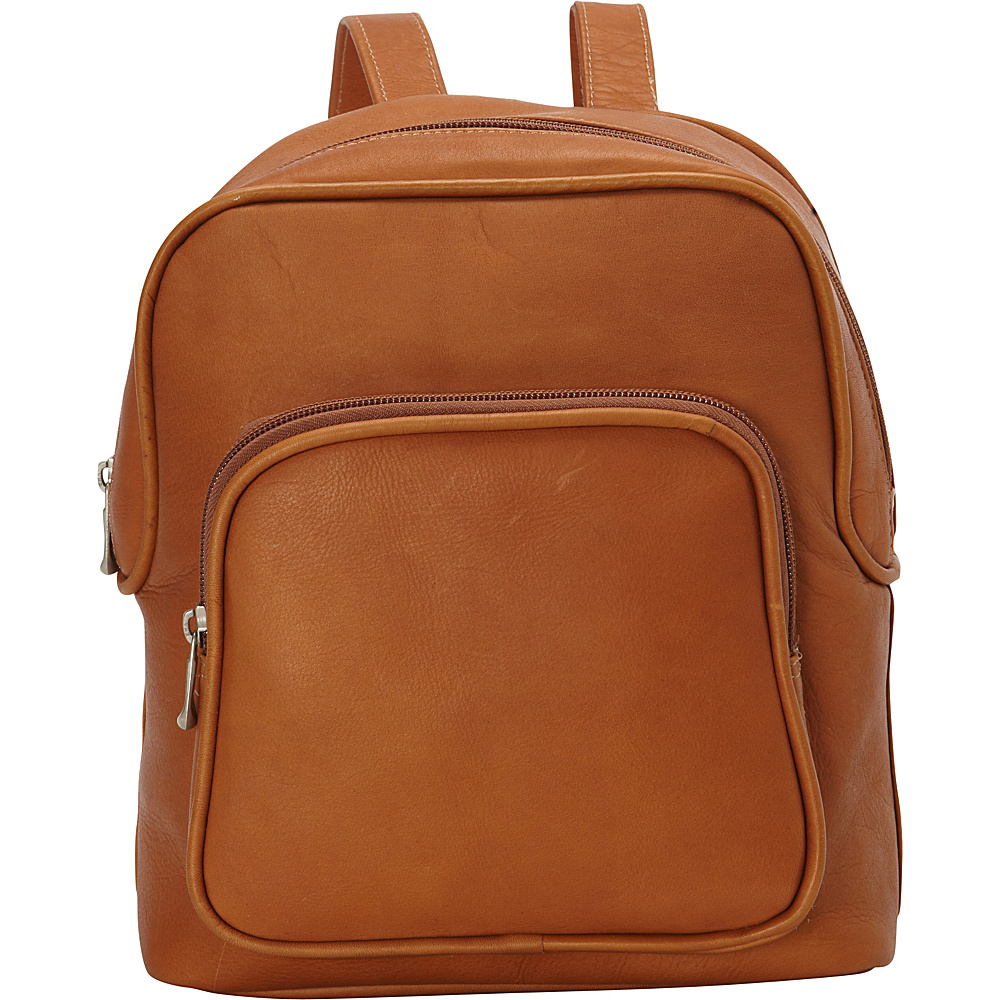 Le Donne Leather Zip Around Backpack Tan - Le Donne Leather Leather Handbags