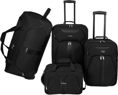U.S. Traveler U.S. Traveler 4-Pc Luggage Set Black - U.S. Traveler Luggage Sets