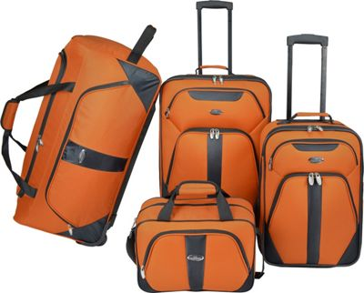 U.S. Traveler U.S. Traveler 4-Pc Luggage Set Burnt Orange - U.S. Traveler Luggage Sets