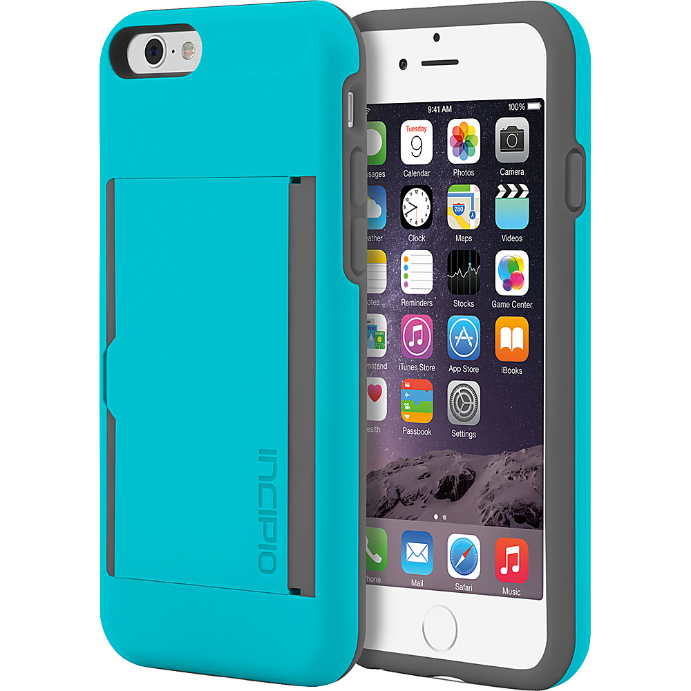 Incipio Stowaway iPhone 6/6s Case Charcoal/Cyan - Incipio Electronic Cases - Technology, Electronic Cases