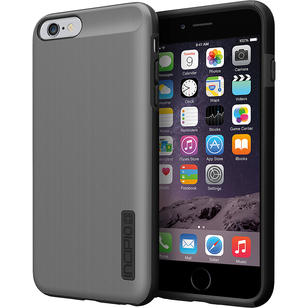 Incipio DualPro SHINE iPhone 6 6s Plus Case Gunmetal Black Incipio Electronic Cases