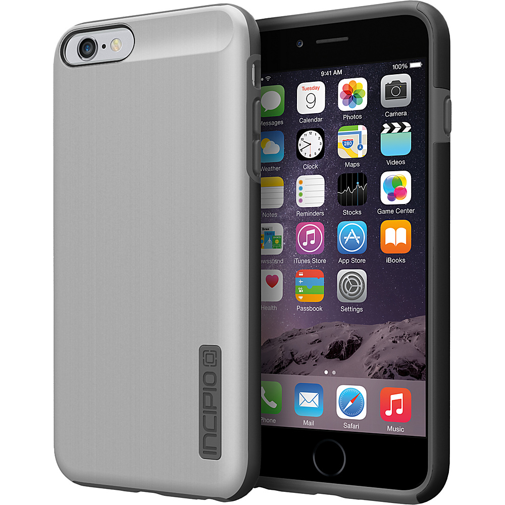 Incipio DualPro SHINE iPhone 6 6s Plus Case Silver Gray Incipio Electronic Cases