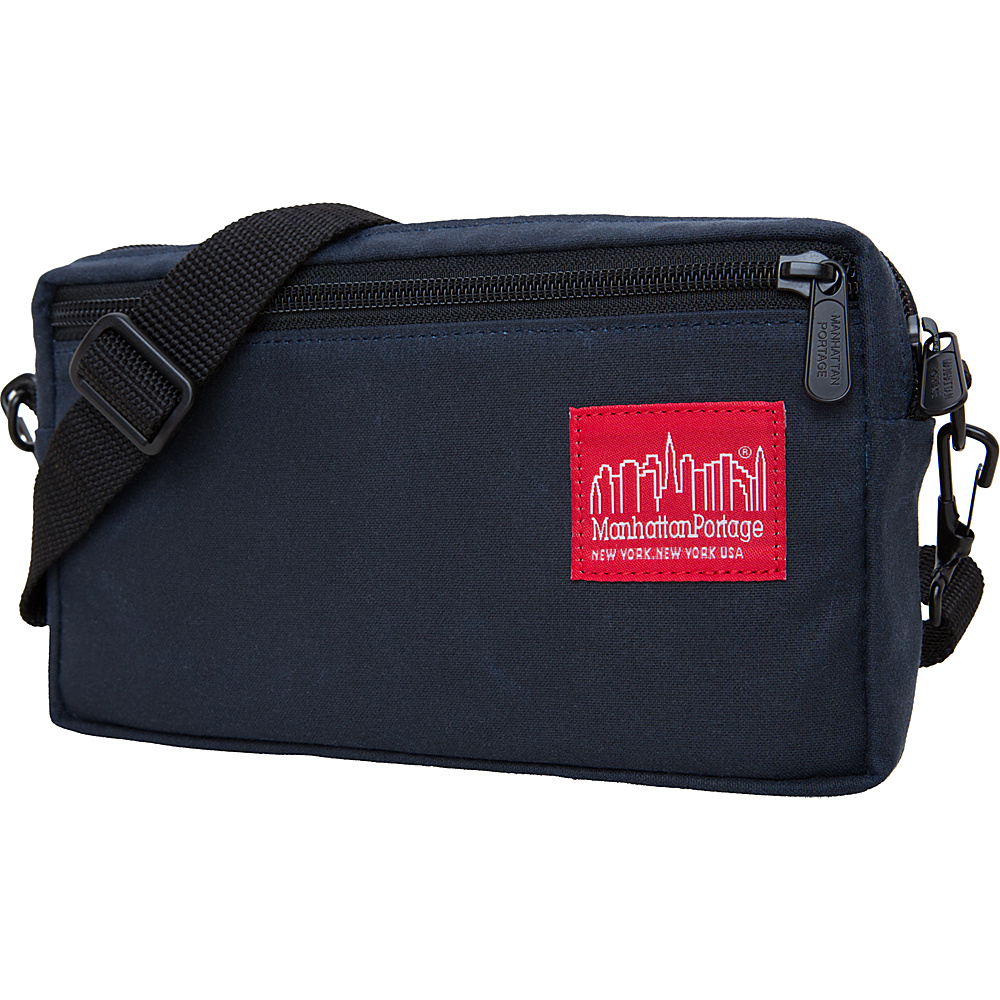 Manhattan Portage Waxed Canvas Jogger Shoulder Bag Navy - Manhattan Portage Other Men's Bags