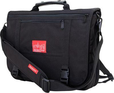 Manhattan Portage The Wallstreeter Messenger With Back Zipper Black - Manhattan Portage Messenger Bags