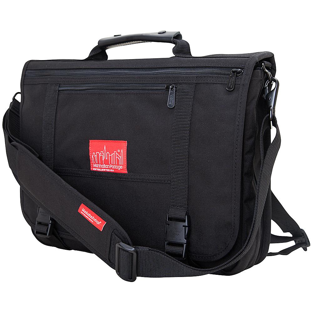 Manhattan Portage The Wallstreeter Messenger With Back Zipper Black - Manhattan Portage Messenger Bags - Work Bags & Briefcases, Messenger Bags