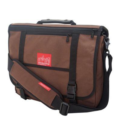 Manhattan Portage The Wallstreeter Messenger With Back Zipper Dark Brown - Manhattan Portage Messenger Bags