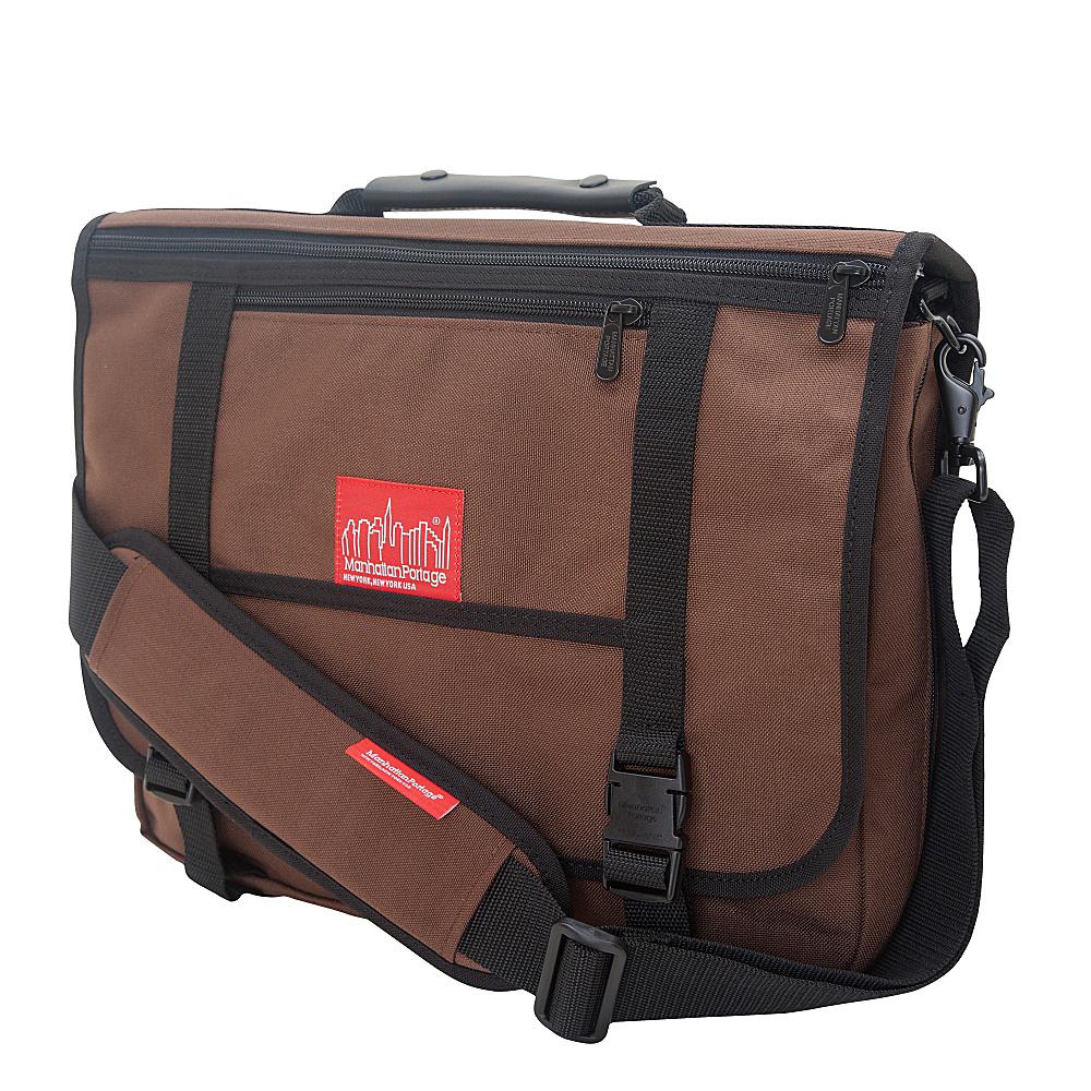 Manhattan Portage The Wallstreeter Messenger With Back Zipper Dark Brown - Manhattan Portage Messenger Bags - Work Bags & Briefcases, Messenger Bags