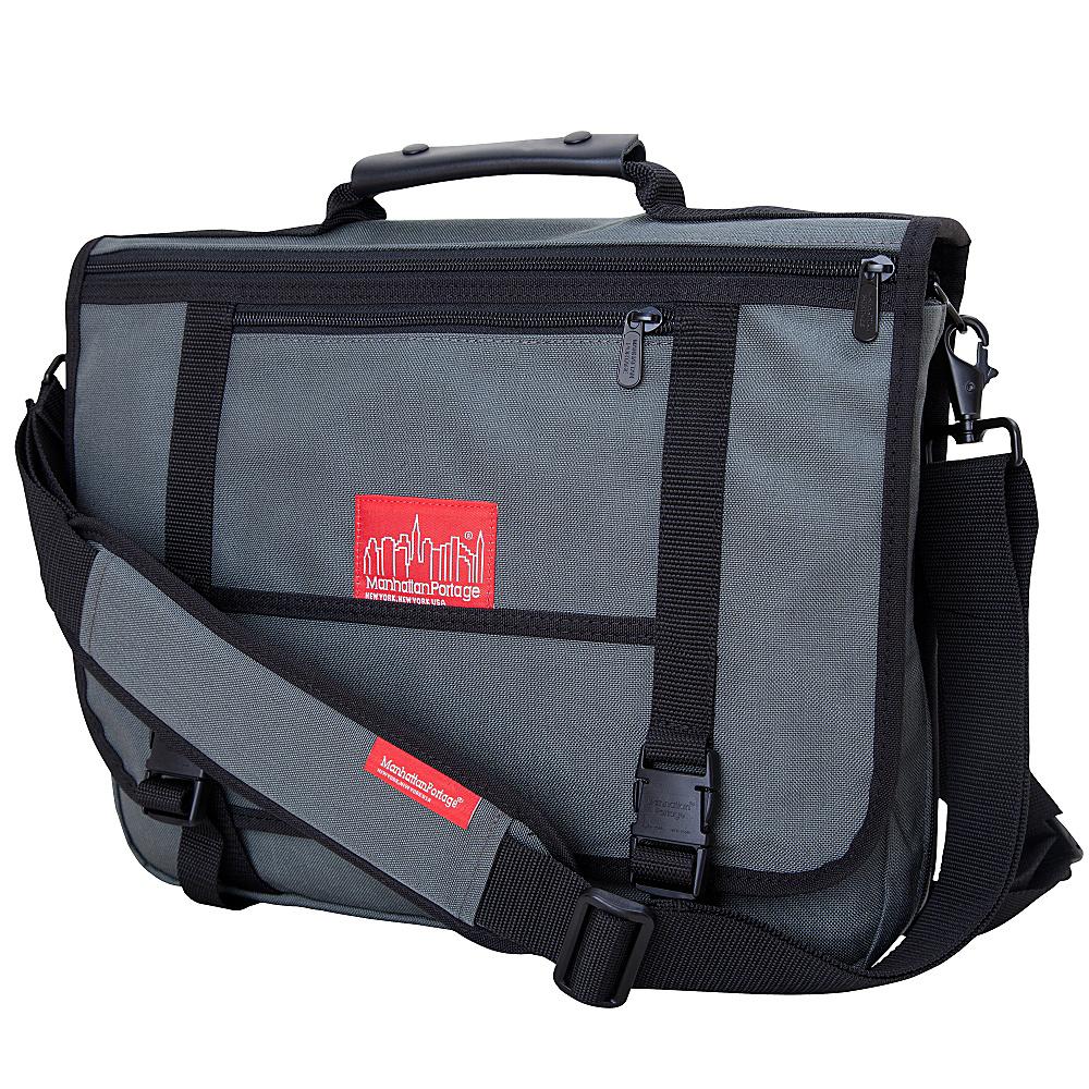 Manhattan Portage The Wallstreeter Messenger With Back Zipper Gray - Manhattan Portage Messenger Bags - Work Bags & Briefcases, Messenger Bags