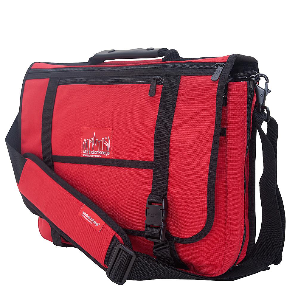 Manhattan Portage The Wallstreeter Messenger With Back Zipper Red - Manhattan Portage Messenger Bags - Work Bags & Briefcases, Messenger Bags