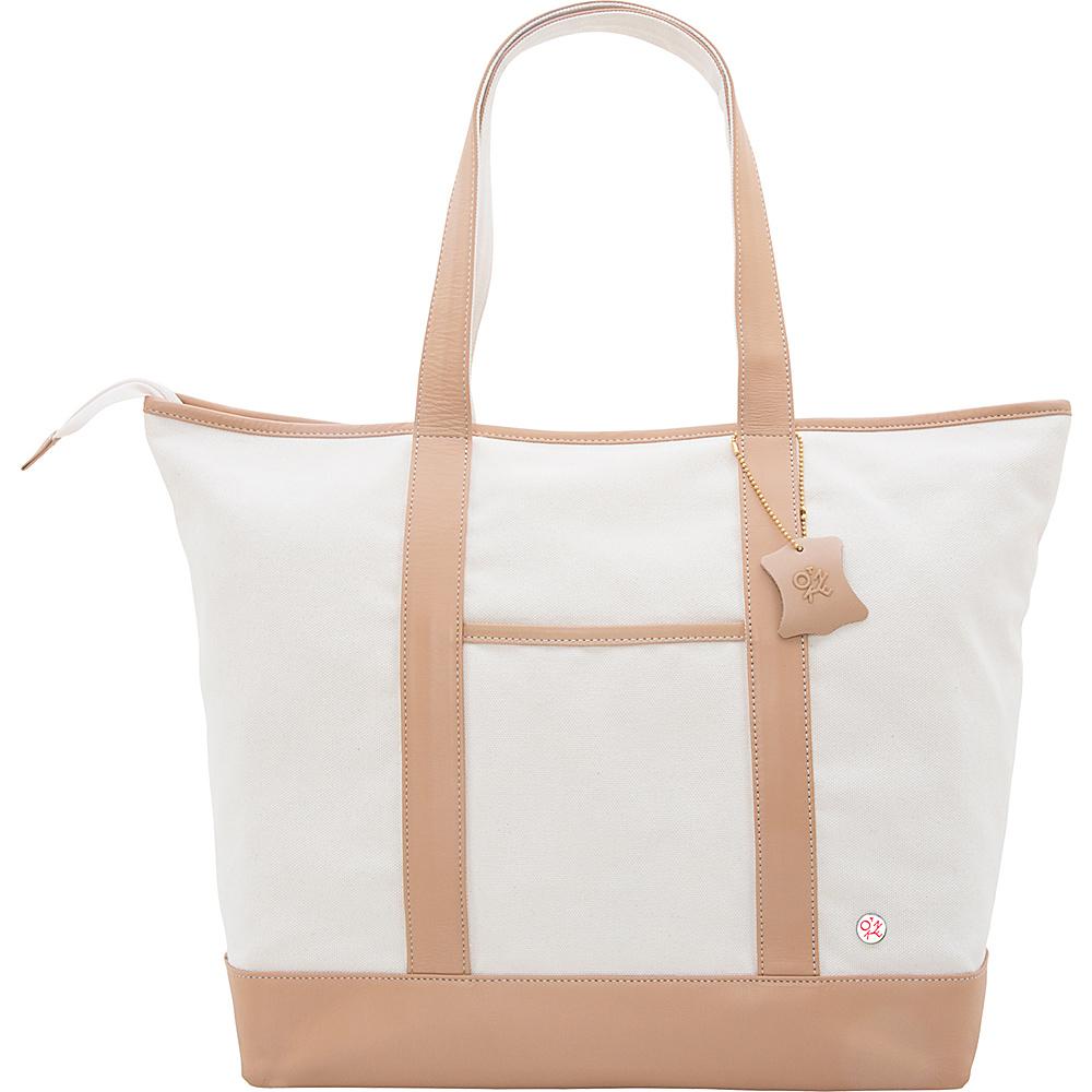 TOKEN Greenpoint Organic Tote (L) Beige - TOKEN Fabric Handbags
