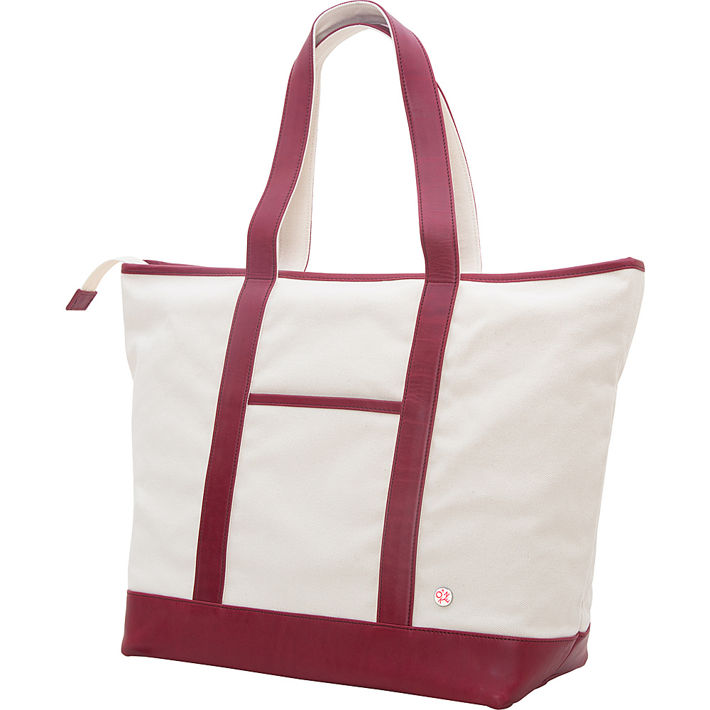TOKEN Greenpoint Organic Tote L Red TOKEN Fabric Handbags