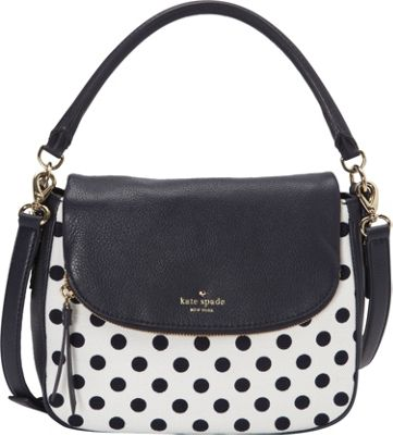 kate spade new york Cobble Hill Canvas Dot Satchel Off Shore/White - kate spade new york Designer Handbags