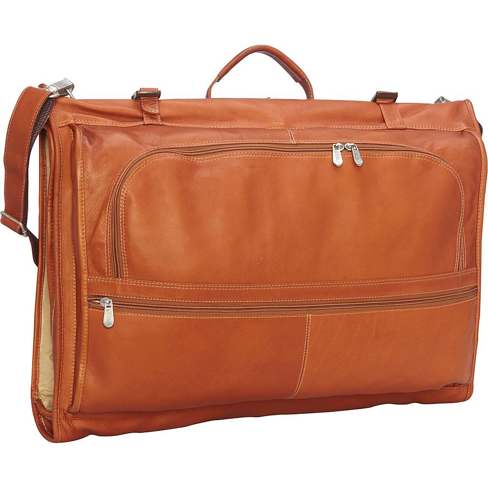 Piel Tri-Fold Garment Bag Saddle - Piel Garment Bags - Luggage, Garment Bags