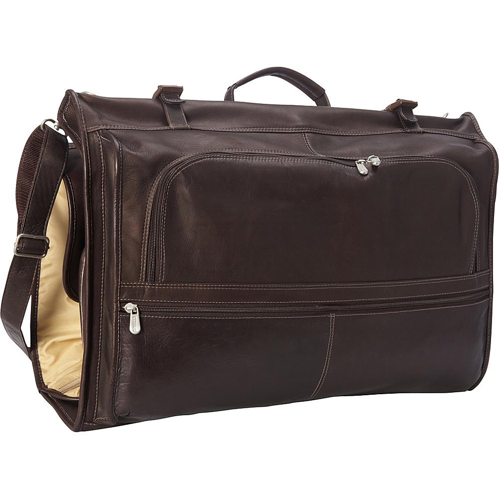 Piel Tri-Fold Garment Bag Chocolate - Piel Garment Bags - Luggage, Garment Bags