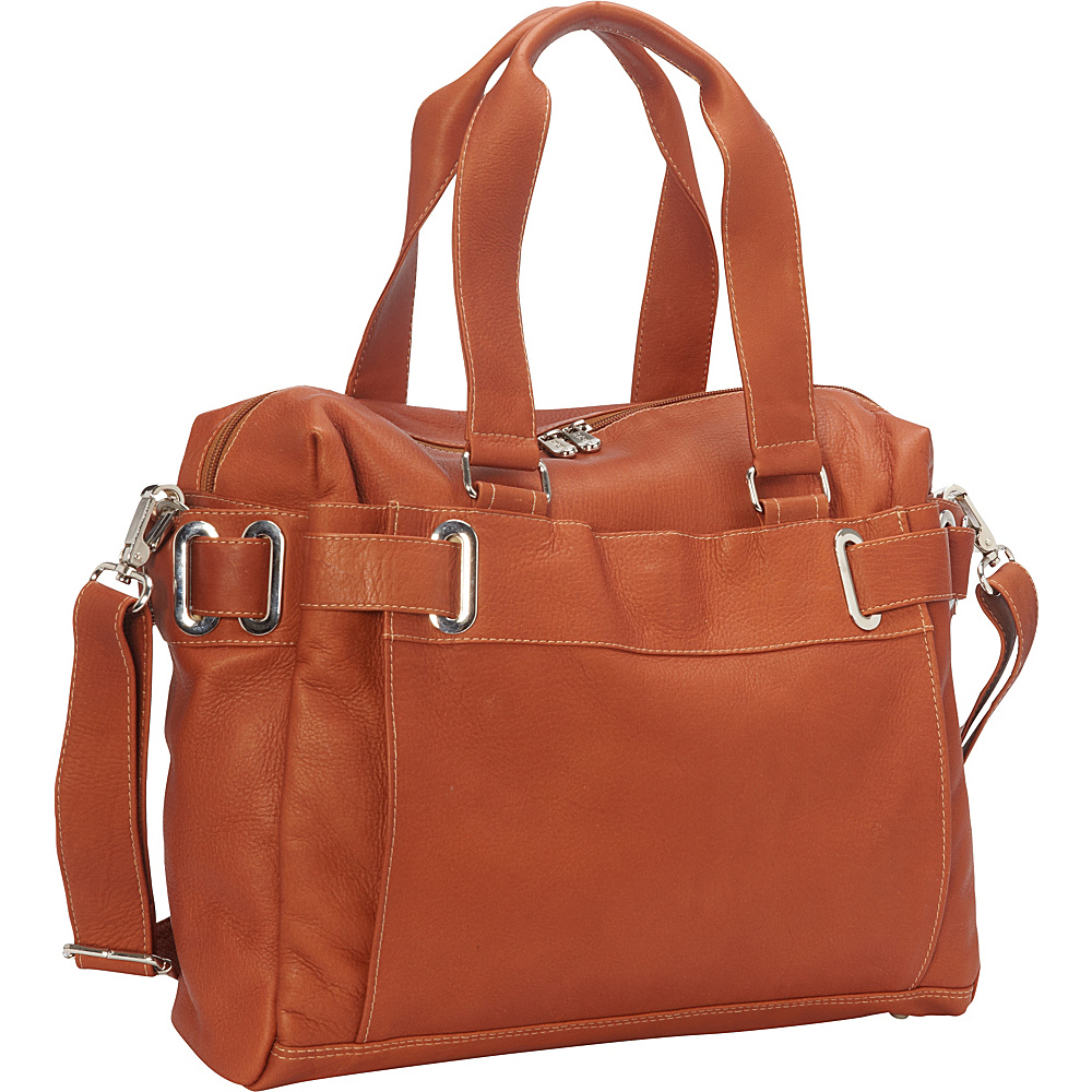 Piel Ladies Slim Carry-On Saddle - Piel Manmade Handbags - Handbags, Manmade Handbags