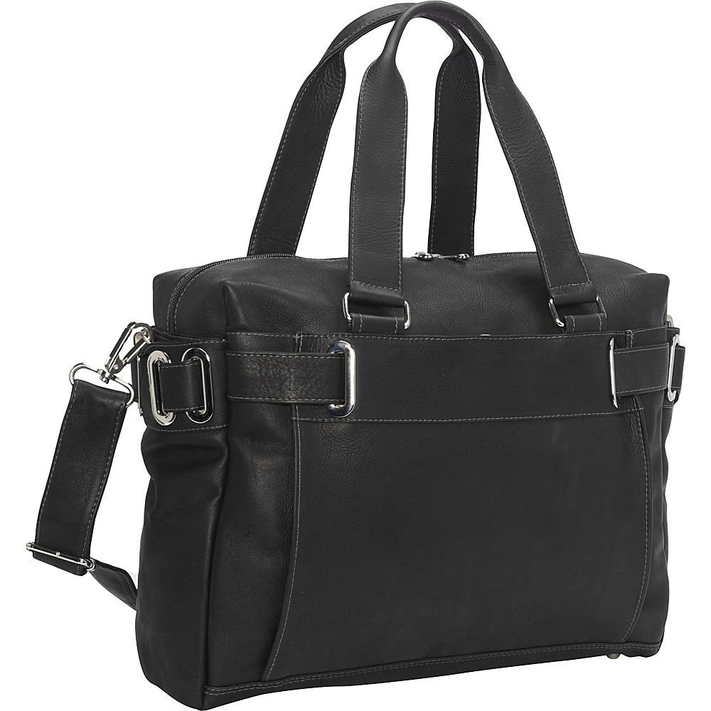 Piel Ladies Slim Carry-On Black - Piel Manmade Handbags - Handbags, Manmade Handbags