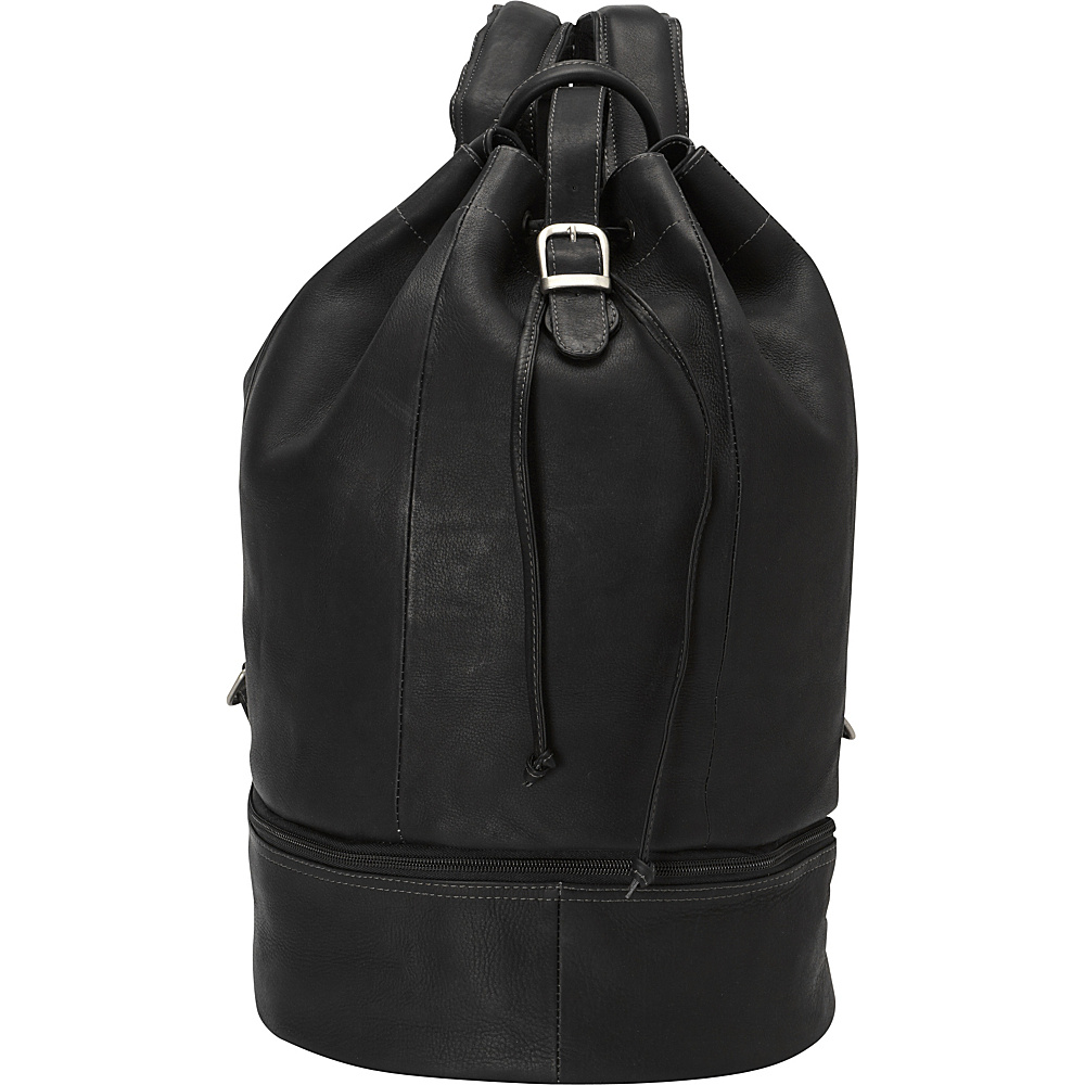 Piel Navy Drawstring Backpack Black - Piel School & Day Hiking Backpacks