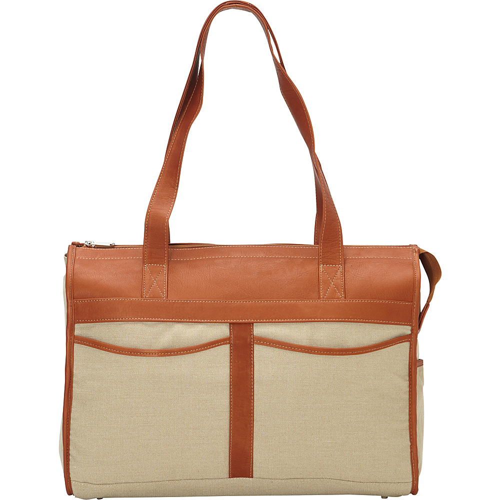 Piel Travel Tote Bag Saddle - Piel Leather Handbags - Handbags, Leather Handbags