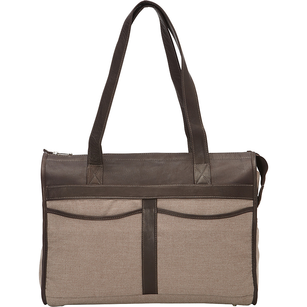 Piel Travel Tote Bag Chocolate - Piel Leather Handbags - Handbags, Leather Handbags