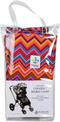 Canopy Stroller Cover Cassandra Zig Zag-Chocolate - Kalencom Diaper Bags & Accessories
