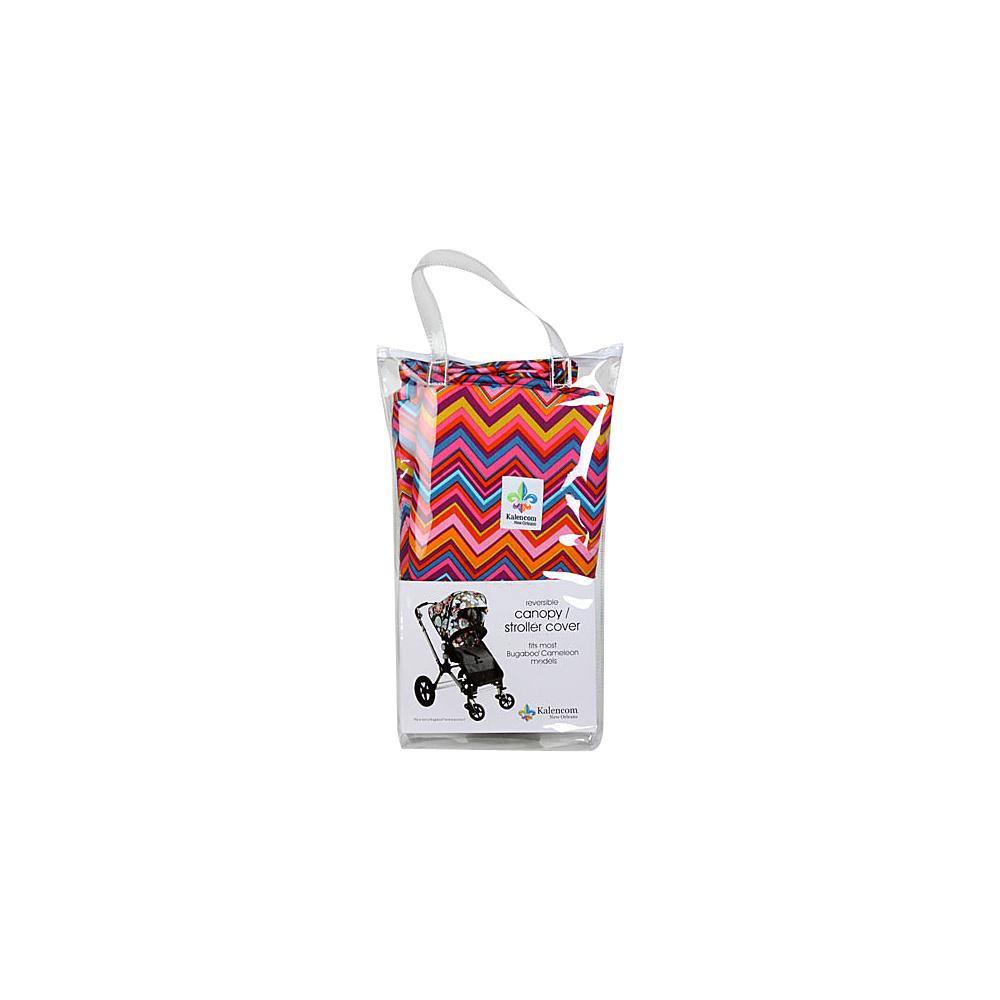 Kalencom Canopy Stroller Cover Cassandra Zig Zag Chocolate Kalencom Diaper Bags Accessories