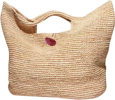 Physician Endorsed Tobago Tote Natural/Purple - Physician Endorsed Straw Handbags