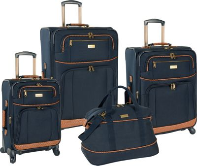 Tommy Bahama Tommy Bahama Mojito Four Piece Luggage Set Navy - Tommy Bahama Luggage Sets