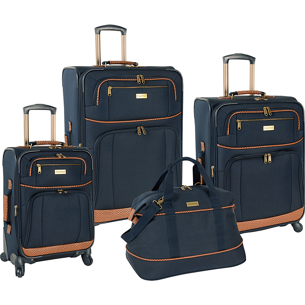Tommy Bahama Mojito Four Piece Luggage Set Navy Tommy Bahama Luggage Sets
