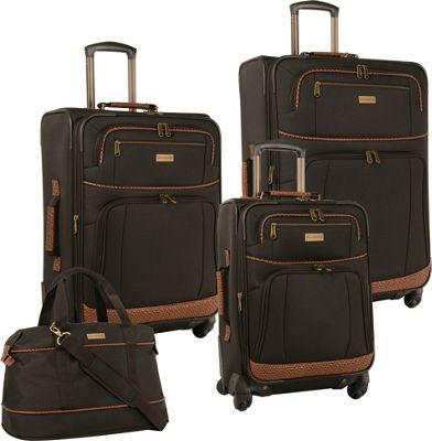 Tommy Bahama Tommy Bahama Mojito Four Piece Luggage Set Dark Brown - Tommy Bahama Luggage Sets