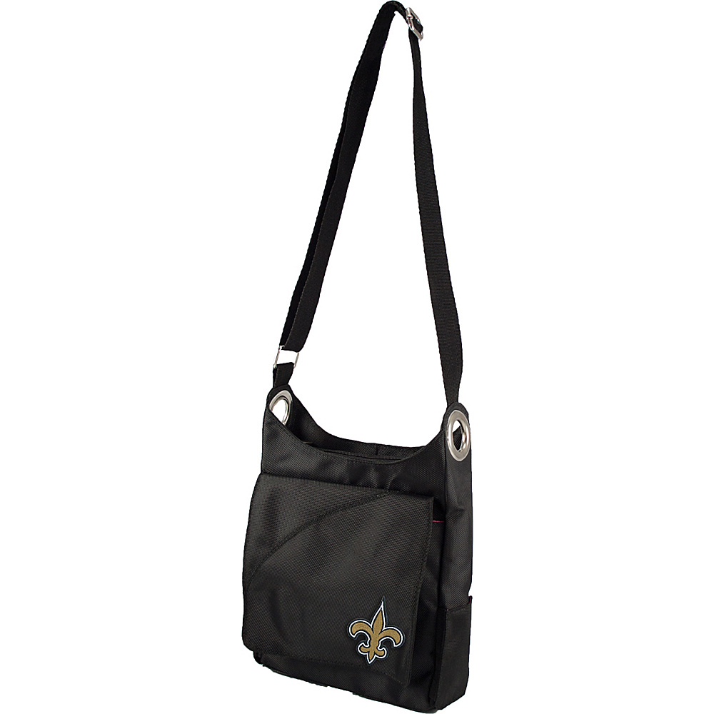 Littlearth Color Sheen Crossbody - NFL Teams New Orleans Saints - Littlearth Fabric Handbags - Handbags, Fabric Handbags