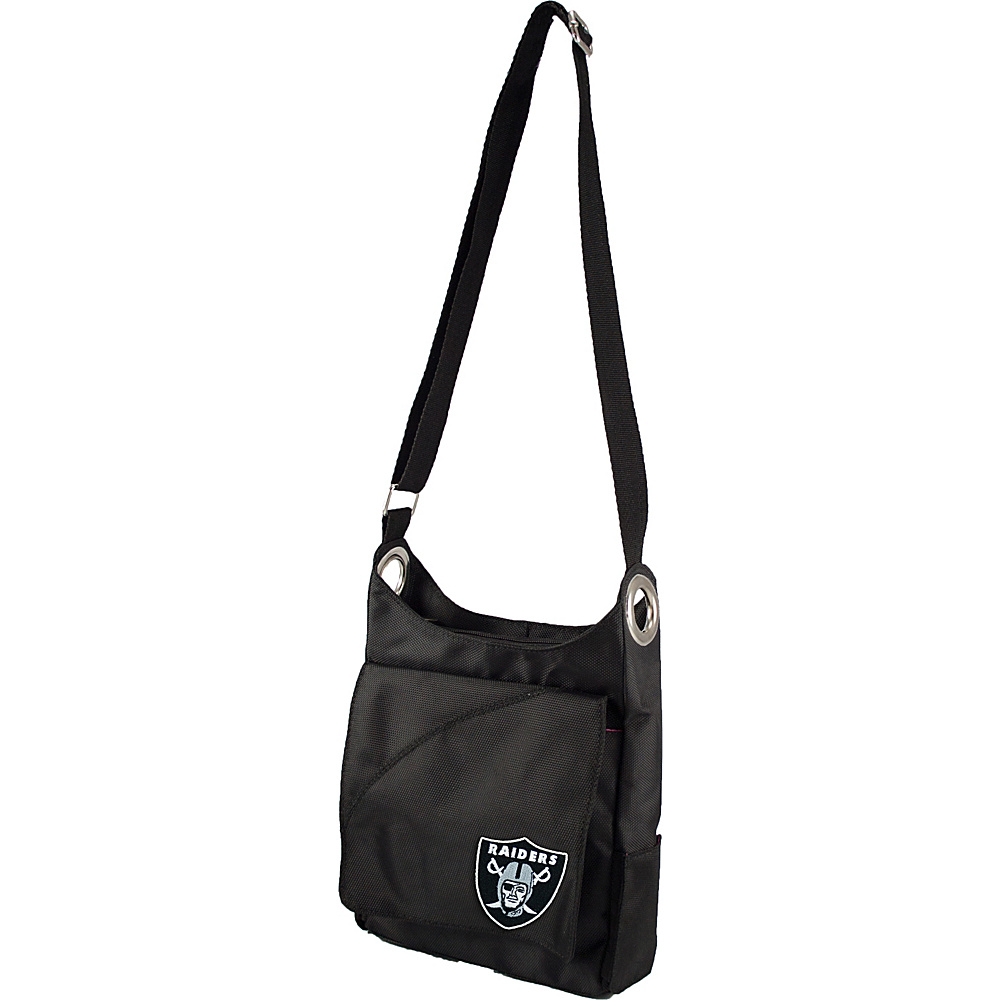 Littlearth Color Sheen Crossbody - NFL Teams Oakland Raiders - Littlearth Fabric Handbags - Handbags, Fabric Handbags