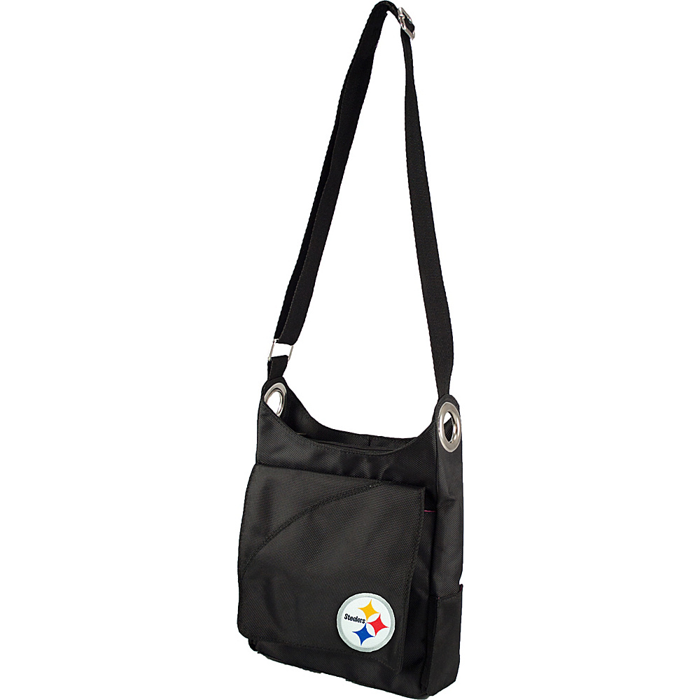 Littlearth Color Sheen Crossbody - NFL Teams Pittsburgh Steelers - Littlearth Fabric Handbags - Handbags, Fabric Handbags