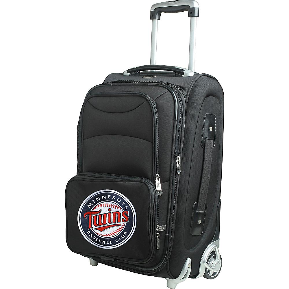"""Denco Sports Luggage MLB 21"""" Wheeled Upright Minnesota Twins - Denco Sports Luggage Softside Carry-On"""