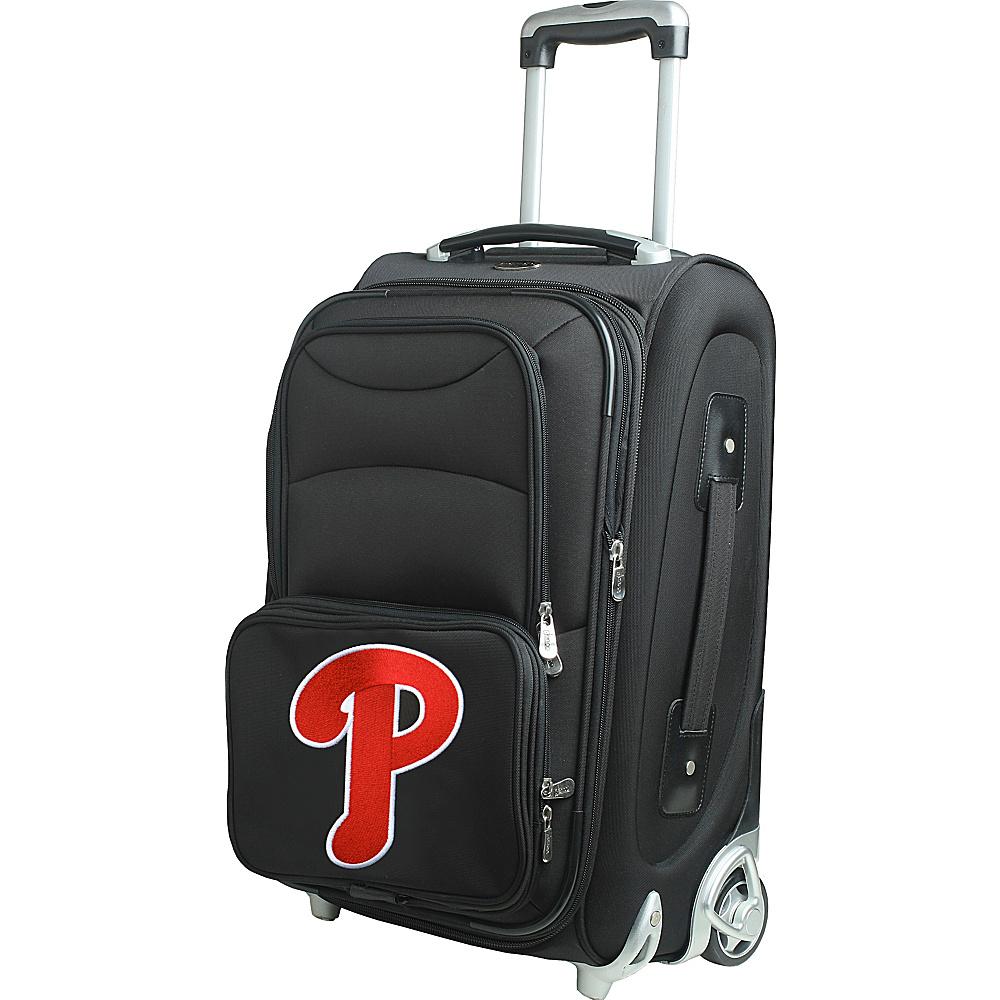 Denco Sports Luggage MLB 21 Wheeled Upright Philadelphia Phillies - Denco Sports Luggage Softside Carry-On - Luggage, Softside Carry-On