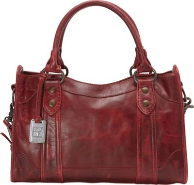Frye Melissa Satchel Burgundy - Frye Designer Handbags