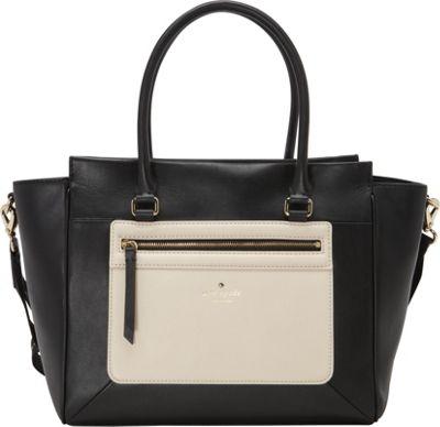 kate spade new york Sunset Court Hattie Satchel Black/Pebble - kate spade new york Designer Handbags