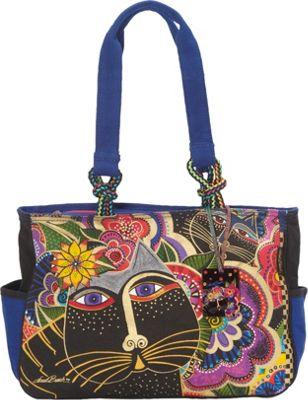 Laurel Burch Carlotta's Cats Tote Multi - Laurel Burch Fabric Handbags