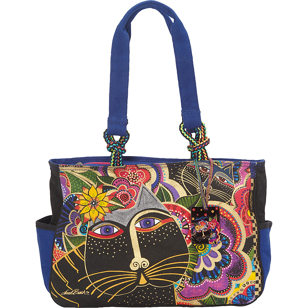 Laurel Burch Carlotta s Cats Tote Multi Laurel Burch Fabric Handbags