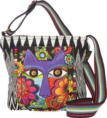 Laurel Burch Blossoming Feline Crossbody Multi - Laurel Burch Leather Handbags