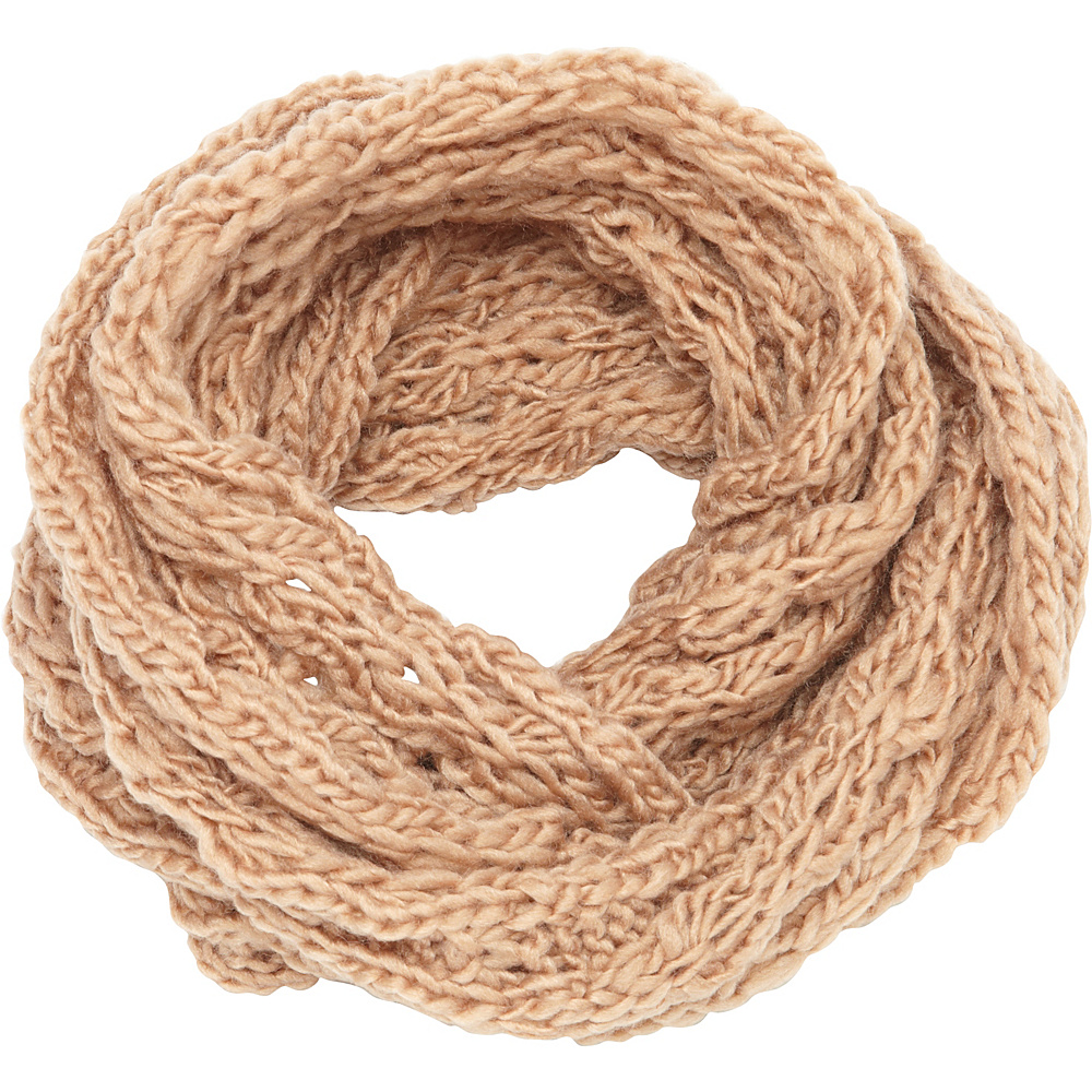 Magid Chunky Knit Infinity Scarf Camel - Magid Hats/Gloves/Scarves