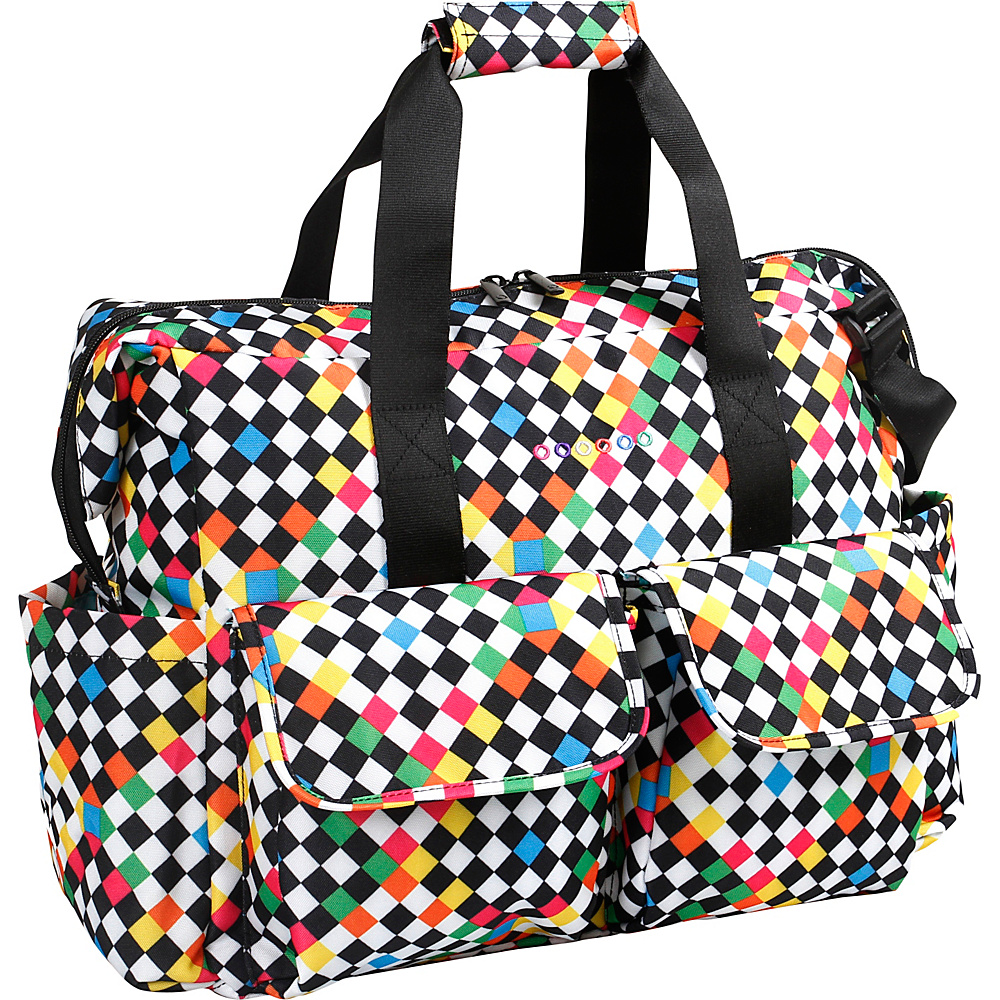 J World New York Amber Weekend Travel Bag CHECKERS - J World New York Diaper Bags & Accessories - Handbags, Diaper Bags & Accessories
