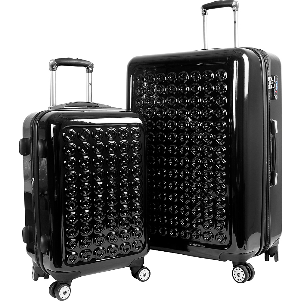 J World New York Joint Hardside Spinner 2pc Luggage Set Black - J World New York Luggage Sets - Luggage, Luggage Sets