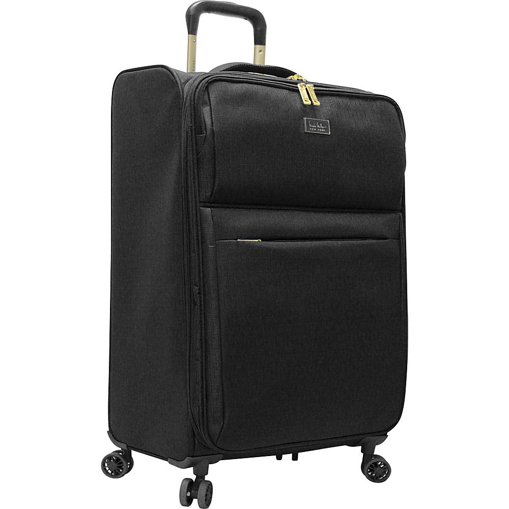 """Nicole Miller NY Luggage Sophia 26"""" Expandable Spinner Black - Nicole Miller NY Luggage Large Rolling Luggage"""
